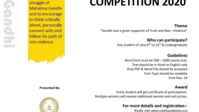 Photo of CYDR Foundation organizing a Online Essay Competition 2020.