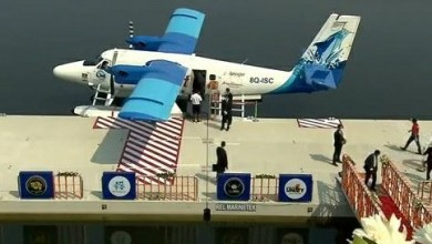 Photo of Prime Minister inaugurates to & fro Sea-plane Service between Kevadia and Sabarmati Riverfront in Ahmedabad