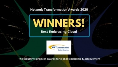 "Photo of NTT Com Receives ""Operator Award: Embracing Cloud"" at Network Transformation Awards During Layer123 World Congress 2020"