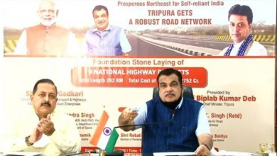 Photo of Gadkari lays Foundation Stones of 9 NH projects in Tripura
